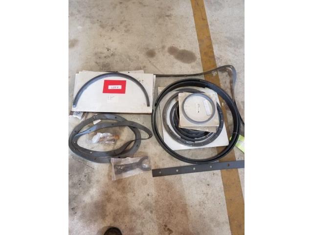 Endyn, Gemini, & Chicago Pneumatic, Compressor Piston Rings, Gaskets, Shaft Key, & Miscellaneous, Qty 35