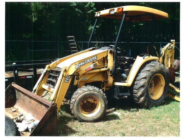 57 - 2004, John Deere, Model 110, Backhoe Loader, Salvage, Qty 1 in